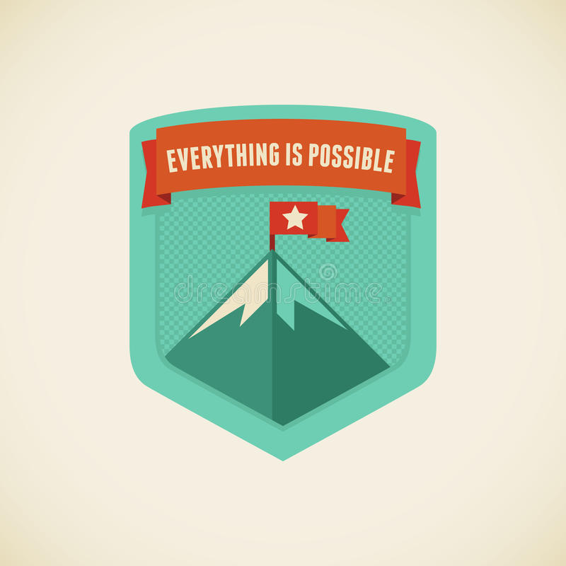 Everything is possible. Vector badge in flat style - Everything is possible stock illustration