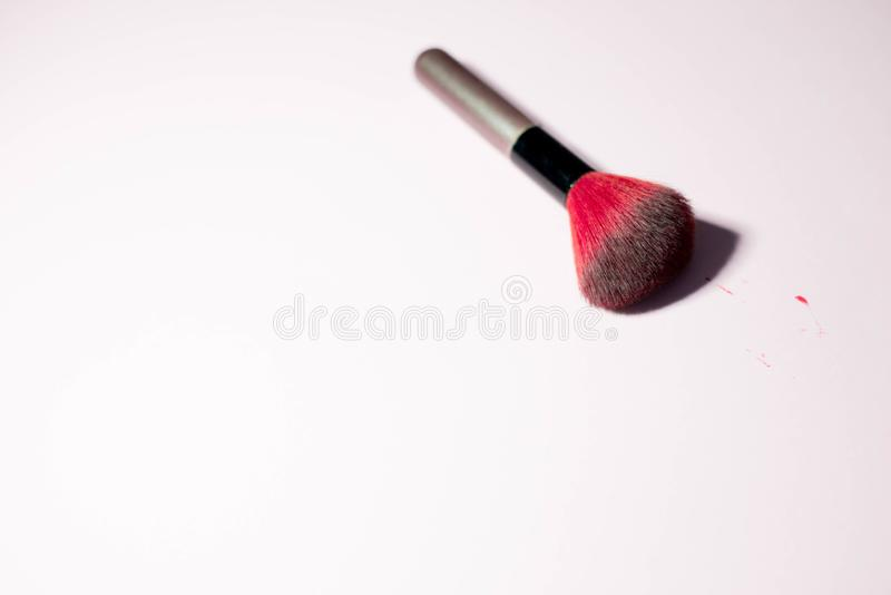 Everything for a woman on a pink background royalty free stock images