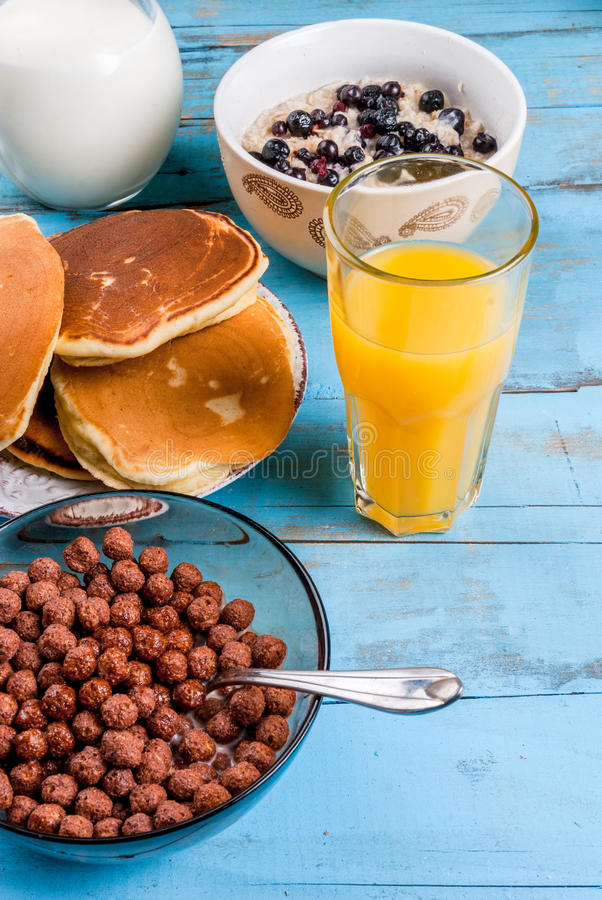 Download Everything You Need For Continental Breakfast Stock Photo - Image: 83716108