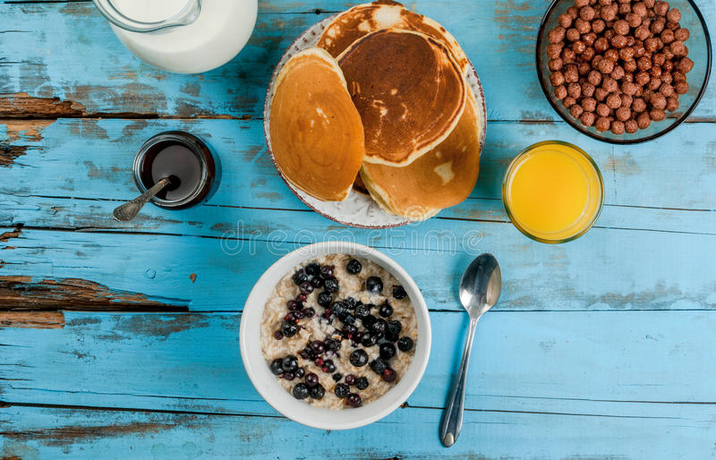 Download Everything You Need For Continental Breakfast Stock Photo - Image: 83717326