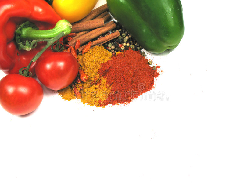 Everything You Need For A Spicy Meal Royalty Free Stock Image