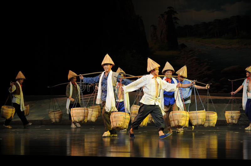 Everywhere Bang Bang Jun- Jiangxi opera a steelyard. Jiangxi opera a steelyard is adapted from a true story: the last century fortys, the protagonists father royalty free stock photos