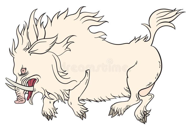 Everzwijnmascotte stock illustratie