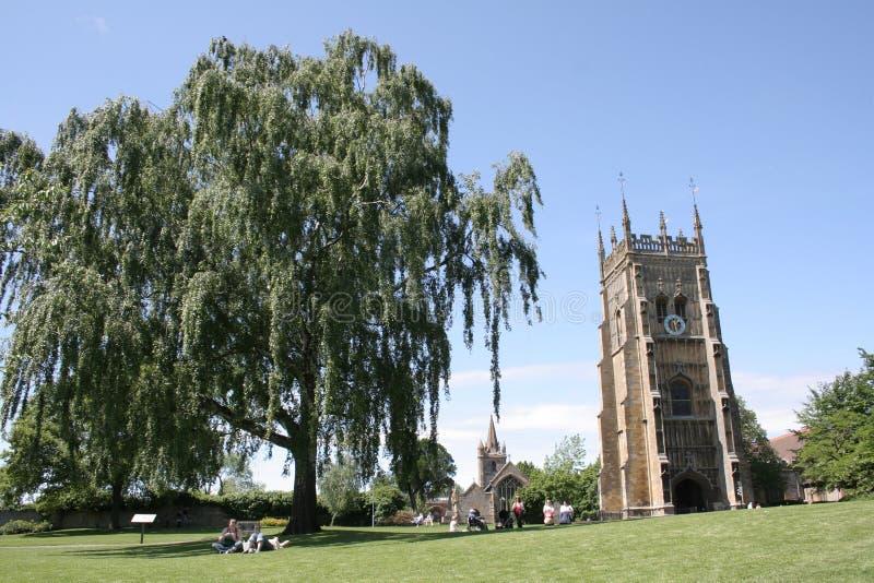 Evesham Abbey in Worcestershire, UK. Evesham Abbey in the Abbey Park in Evesham, Worcestershire, UK royalty free stock images