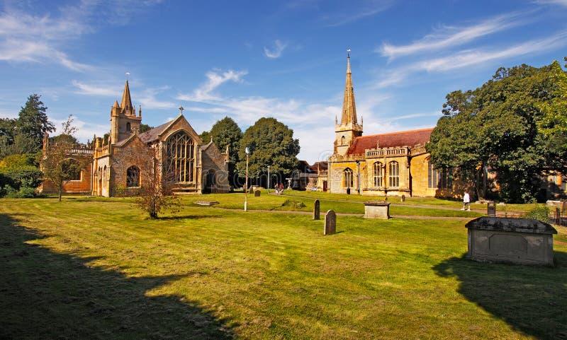 Evesham-Kirchen stockfotos