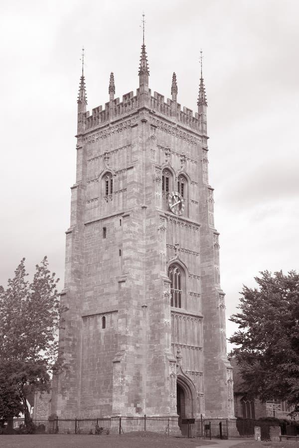 Eveshamklokketoren, Worcestershire, Engeland, het UK royalty-vrije stock afbeeldingen