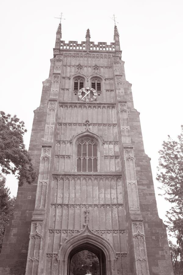 Eveshamklokketoren, Worcestershire, Engeland, het UK stock foto