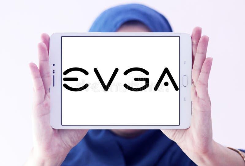 EVGA-Bedrijfsembleem stock afbeeldingen