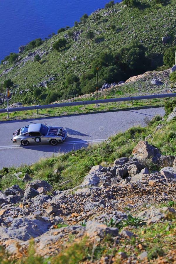 PORSCHE 911 SC - 1980. EVIA, GREECE, NOVEMBER 9, 2019. Classic german car Porsche 911 SC of 1980, at a mountainous area of Evia island during a classic rally stock image