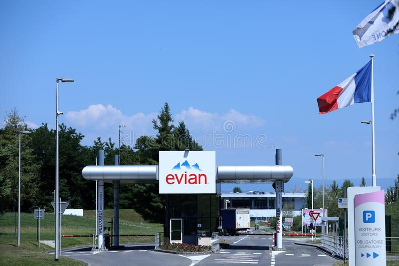 Evian bottling plant in France royalty free stock photography
