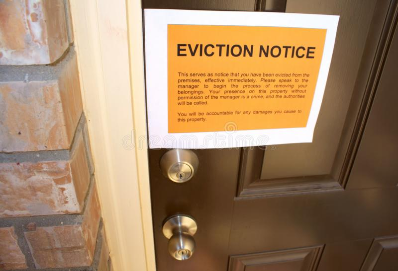 Eviction Notice Stock Image Image Of Loss Lock Door