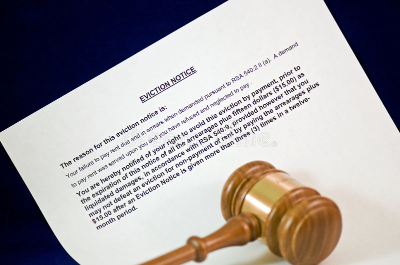 Download Eviction notice and gavel stock photo. Image of surrender - 7824164