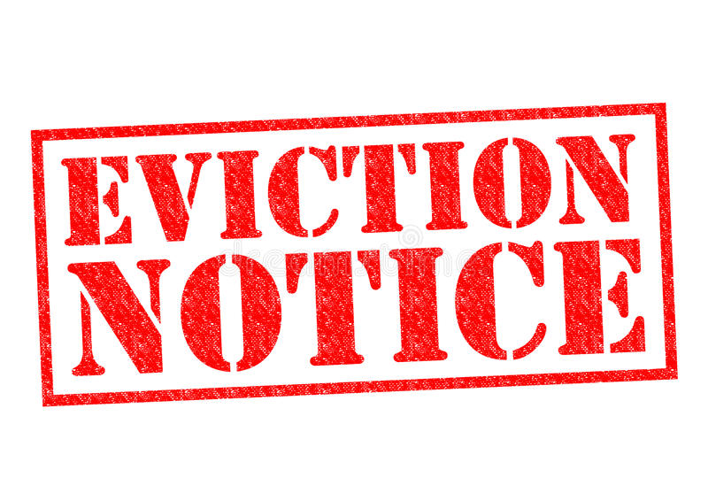 EVICTION NOTICE. Red Rubber Stamp over a white background stock illustration