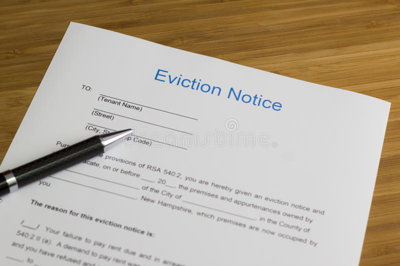 Eviction Notice royalty free stock image