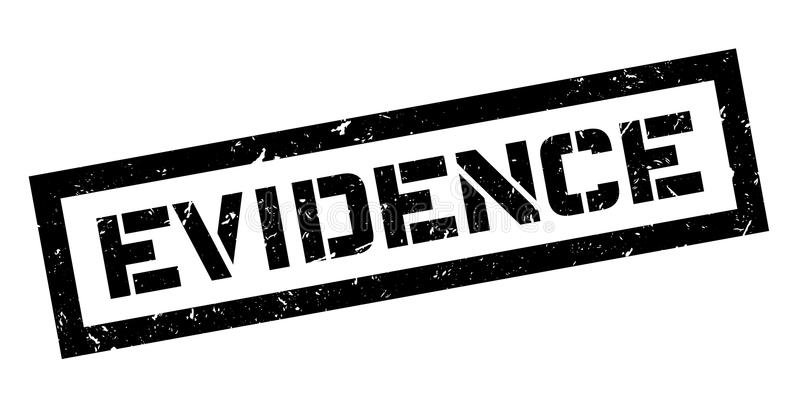 Evidence rubber stamp vector illustration
