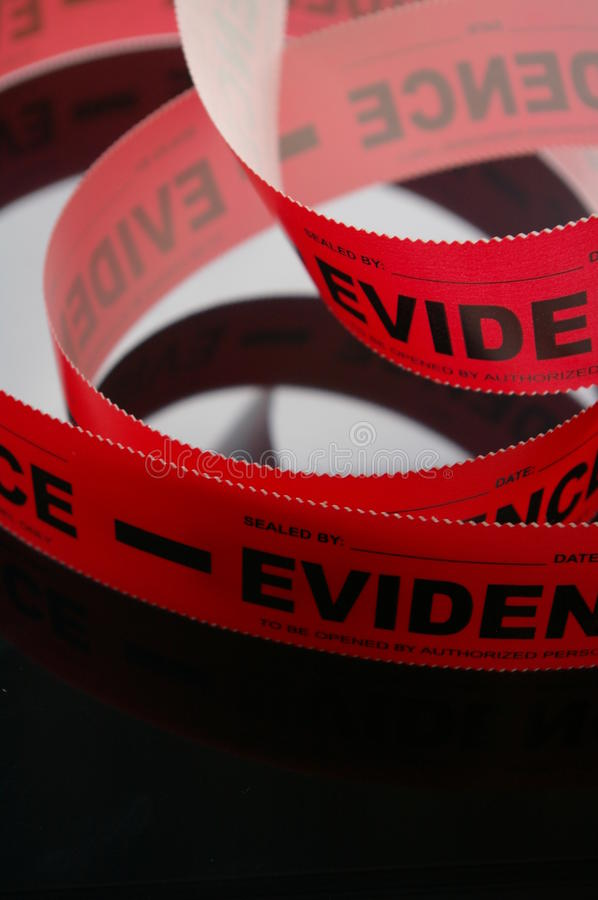 Evidence Tape royalty free stock images