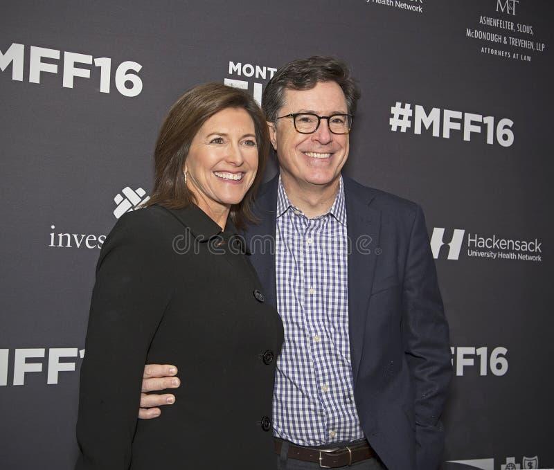 Evie Colbert et Stephen Colbert photo libre de droits