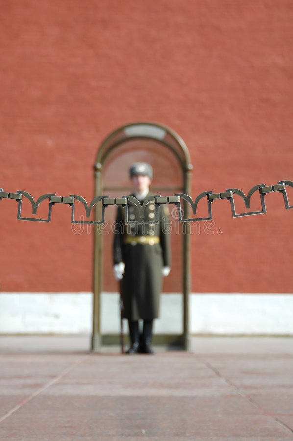 evig brandguard moscow russia royaltyfria foton