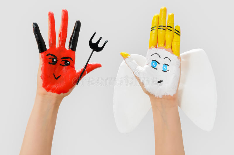 Evil and angel hands royalty free stock photo image 24393145 - Free evil angel pictures ...