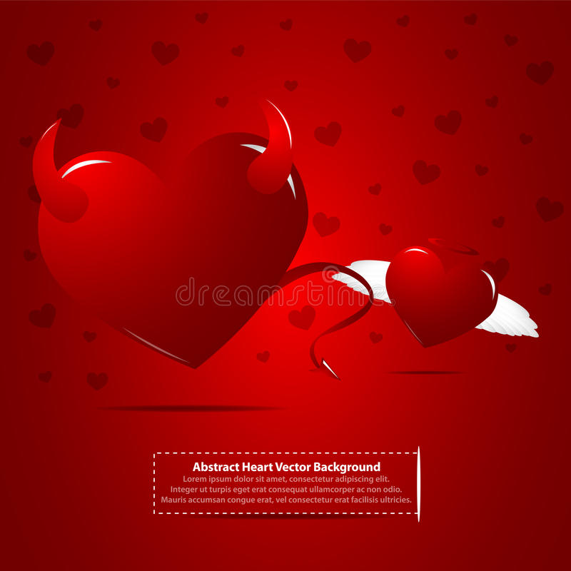 Download Evil And Angel Hearts Royalty Free Stock Photos - Image: 22312578