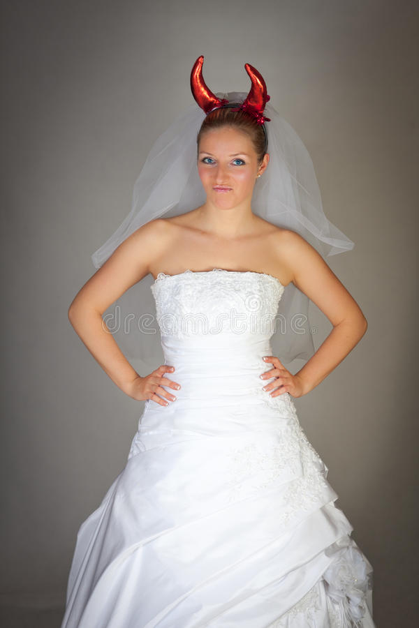 Evil bride stock images
