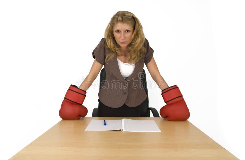 Evil business woman. stock photos