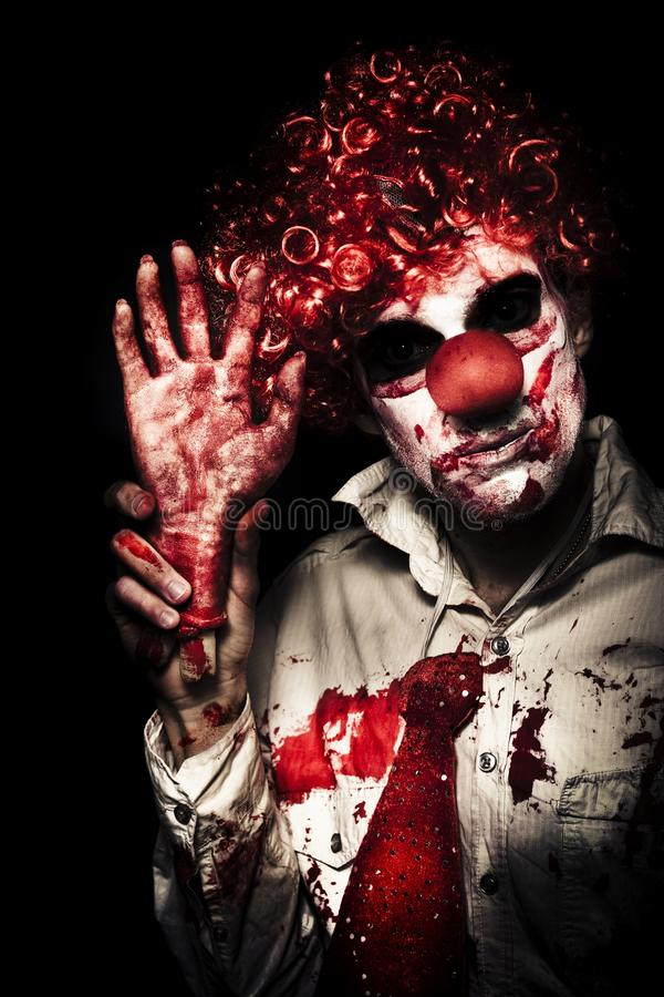 Download Evil Circus Clown Welcoming You To A Dark Carnival Stock Photo - Image: 27338128