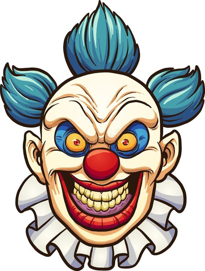 Evil clown royalty free illustration