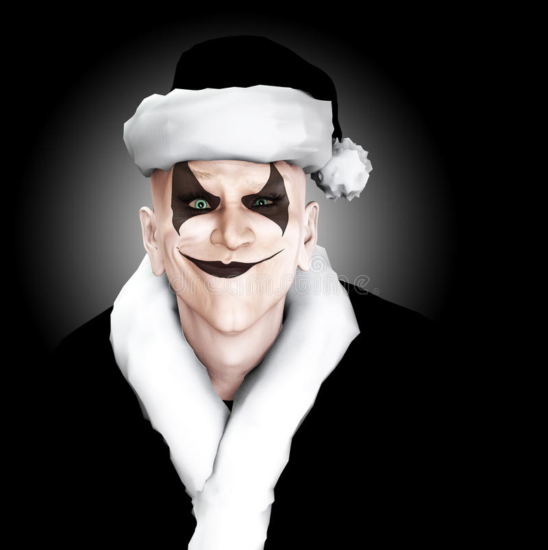 Evil Clown Santa Royalty Free Stock Photo