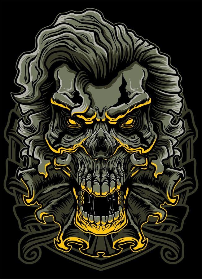 Evil Clown Skull royalty free illustration