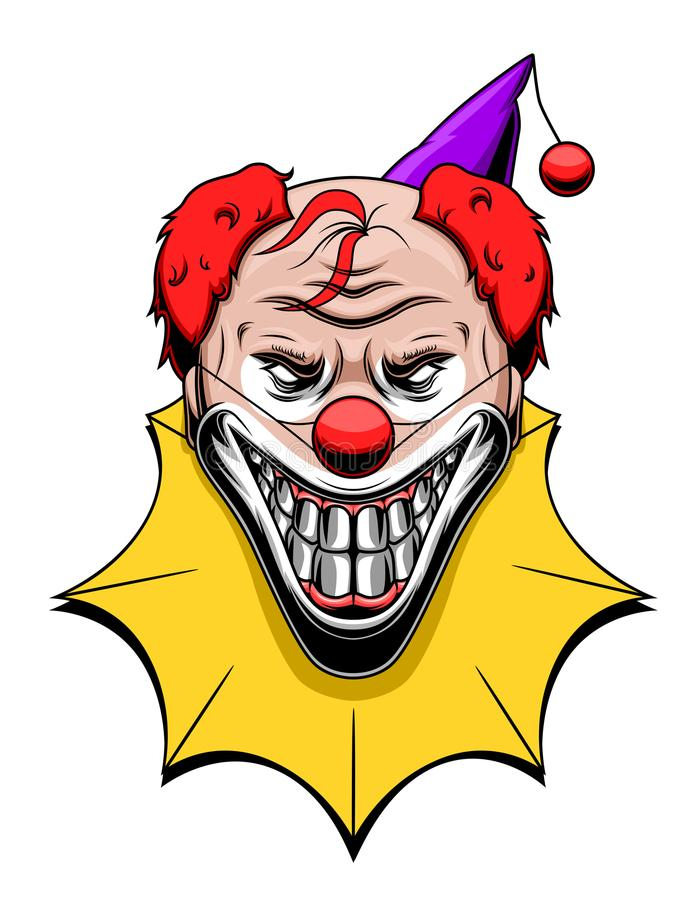 Evil clown vector illustration