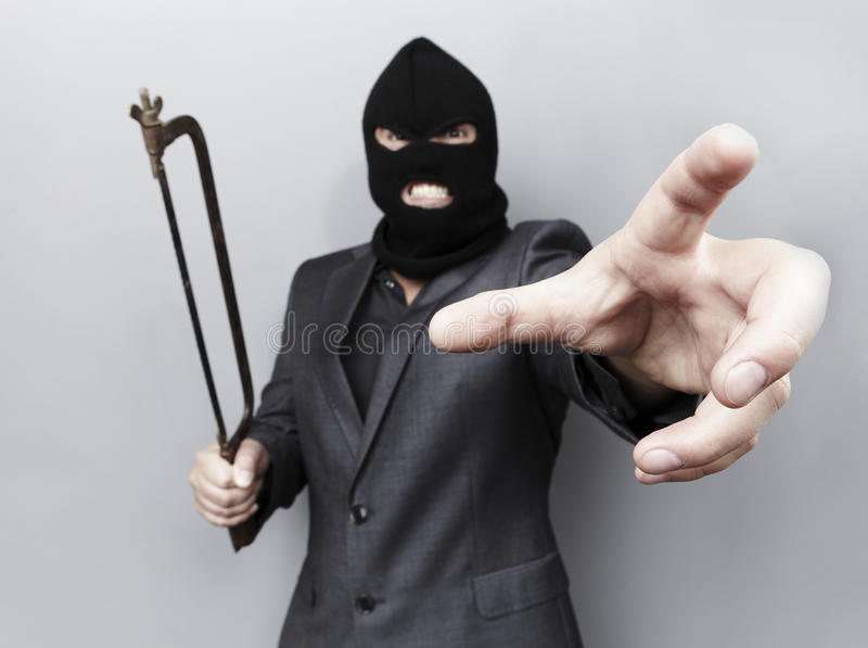 Download Evil Criminal Wearing Military Mask Stock Photo - Image of grey, offense: 16129810