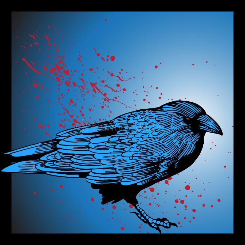 Evil Crow stock illustration