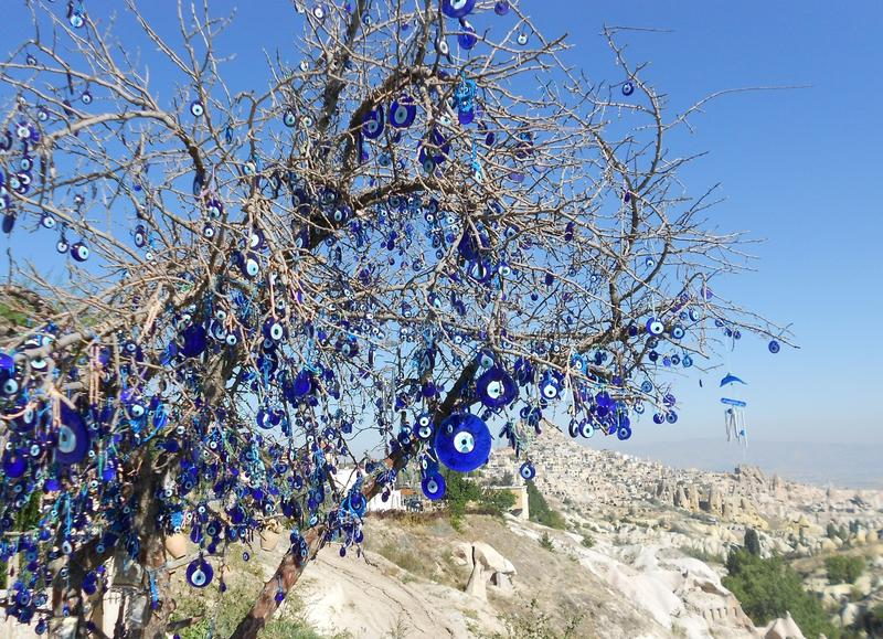 Evil eye tree. In cappadocia royalty free stock photos