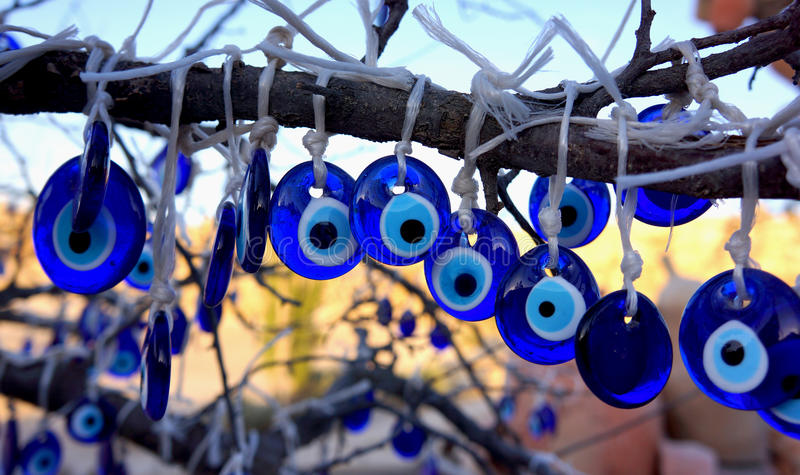 Evil Eye Tree stock photo