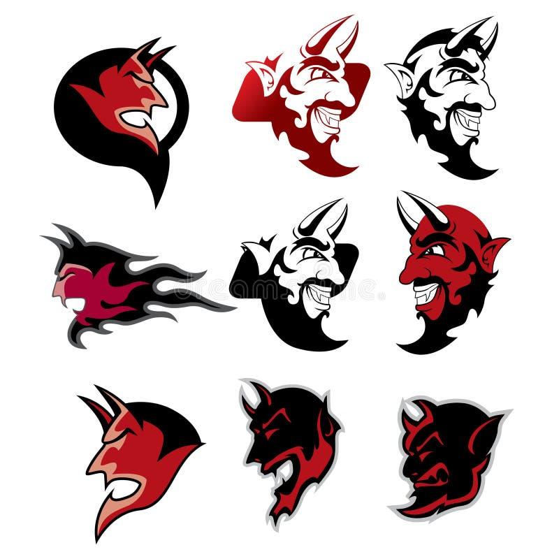 Devil Logo Royalty Free Stock Photography