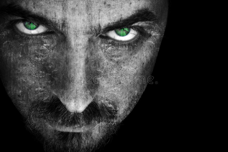 Evil face royalty free stock images