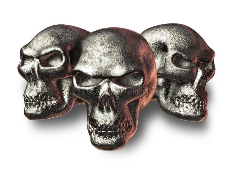 Evil Fantasy Skulls royalty free illustration