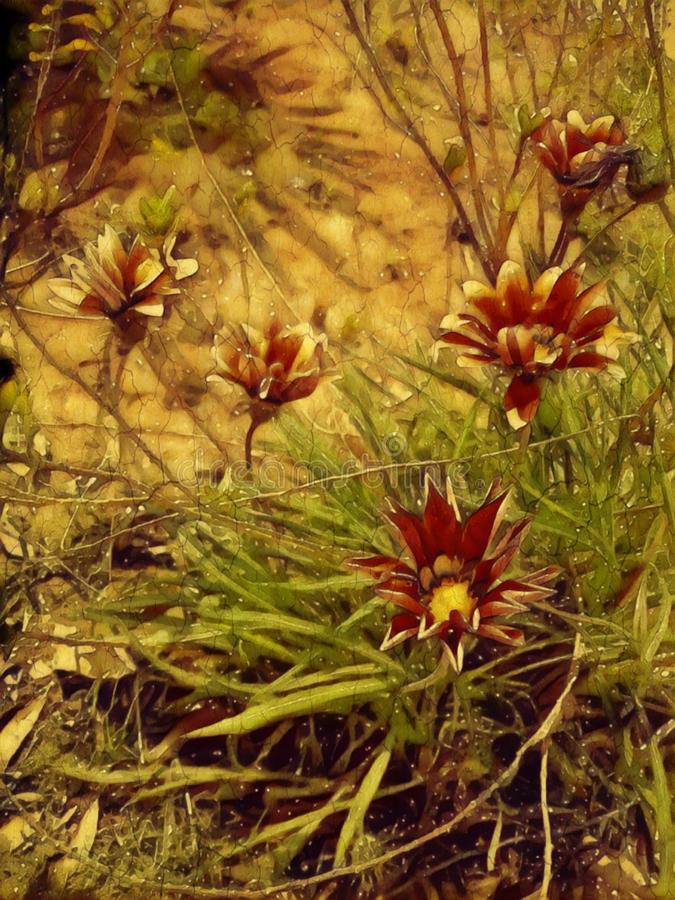 Evil flowers. Horror bloomy dead royalty free stock photos