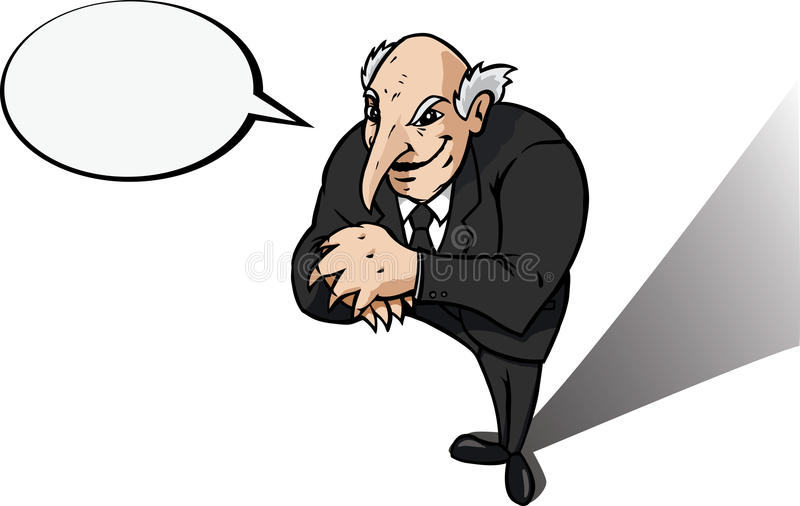 Download Evil genius or businessman stock photo. Image of vile - 14350948