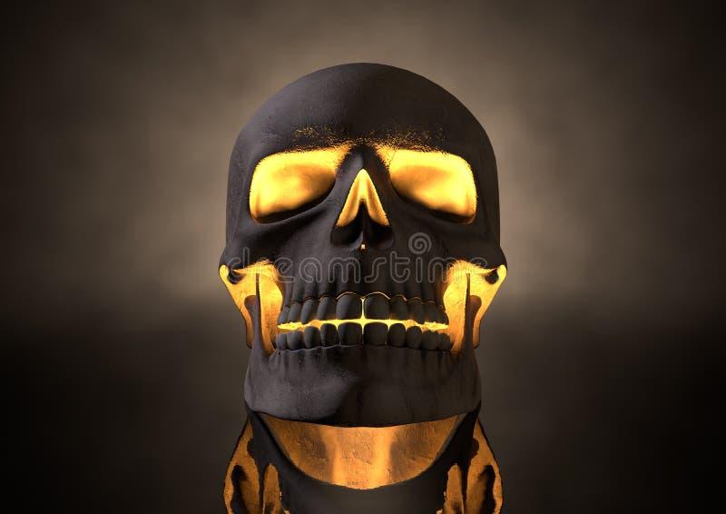 Evil Glowing Skull Front vector illustration