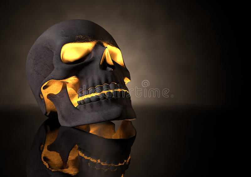 Download Evil Glowing Skull Perspective Stock Illustration - Image: 33406309
