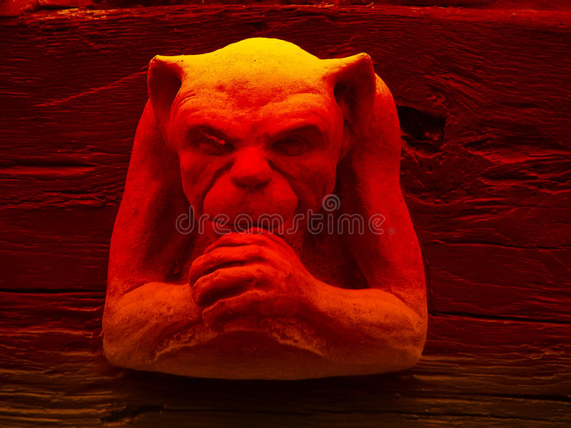 Evil gremlin stock photography