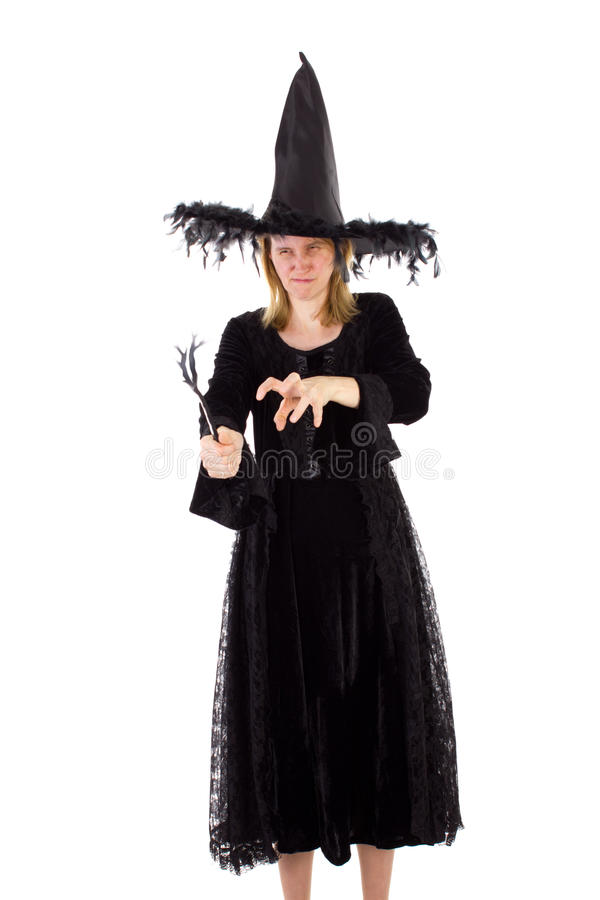 Evil hag bewitching someone. An evil hag bewitching someone royalty free stock photo