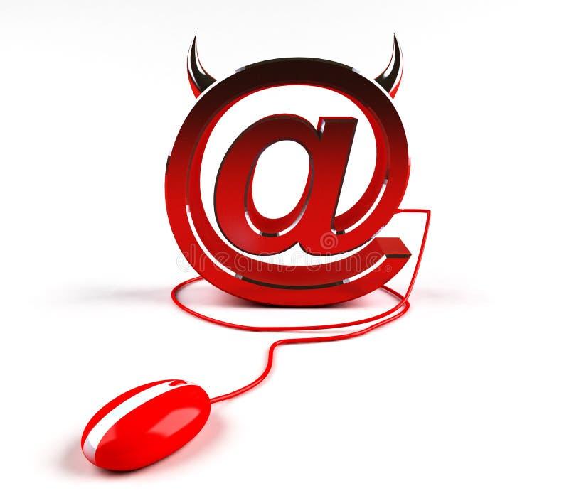 Download Evil internet stock illustration. Image of flames, income - 3663073