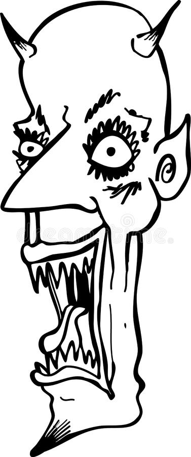 Download Evil Laughing Cartoon Devil Stock Vector - Illustration of drawing, halloween: 11045848
