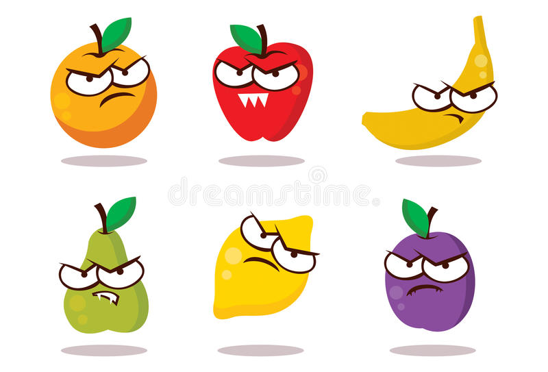 Download Evil Looking Fruits stock illustration. Illustration of angry - 21615681