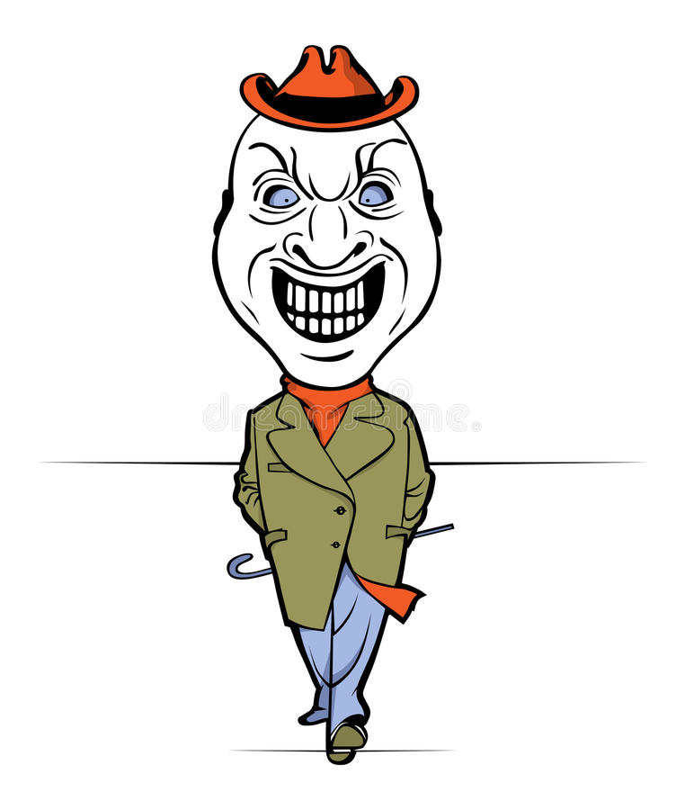 Download Evil man smile stock vector. Image of adult, creative - 20487795