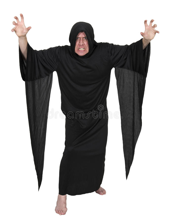 Evil Mystic Sorcerer Warlock Wizard Isolated royalty free stock photos