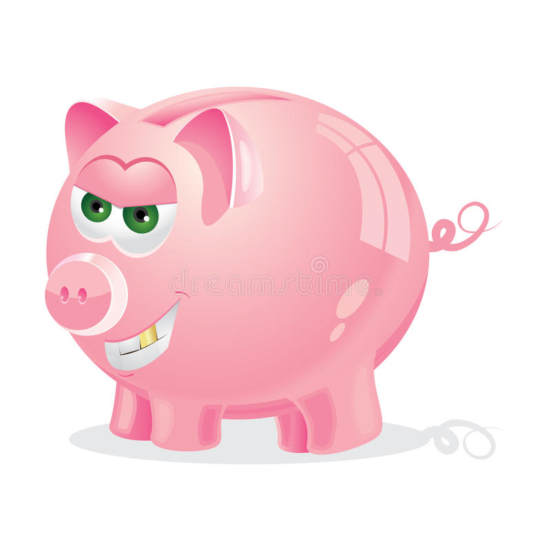 Download Evil Piggy bank stock vector. Image of cartoon, evil - 17272745